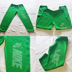 Vintage Nike Air Bold Letters Swoosh Green Sweats